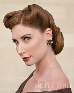 1940's updo | 1940's hair inspiration | 1940s hairstyles ...