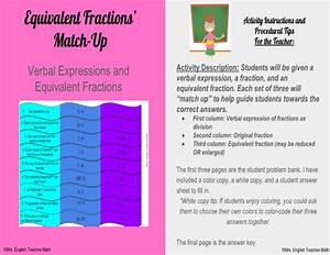 Equivalent Fractions U0026 39  Match