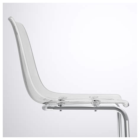 chaise tobias ikea tobias chair transparent chrome plated ikea