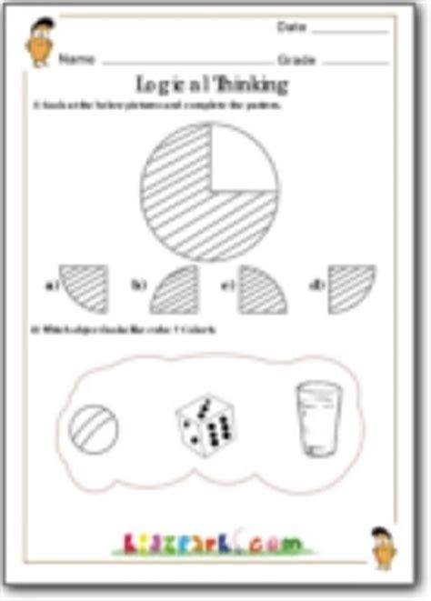 grade  logical thinking worksheets maths exercise