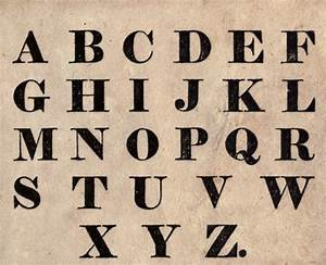 typography font juvenile alphabet block print With initial block letters