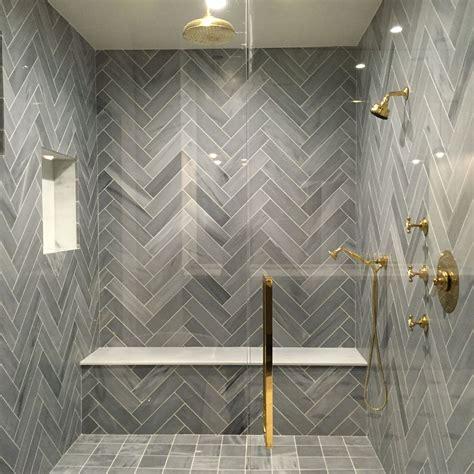 stunning shower herring bone lorca marble  tabarka