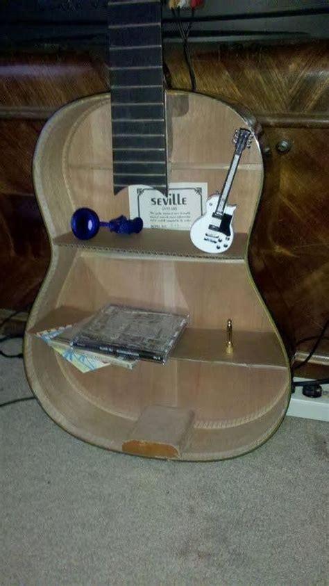 acoustic guitar shelf  shelf decorating  woodwork