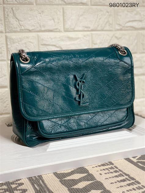 ysl saint laurent woman niki medium chain shoulder bag green bags shoulder bag purses
