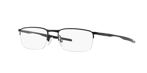 eyeglasses oakley ox 3174 317401 barrelhouse 0 5 53 noir mat rectangle frames