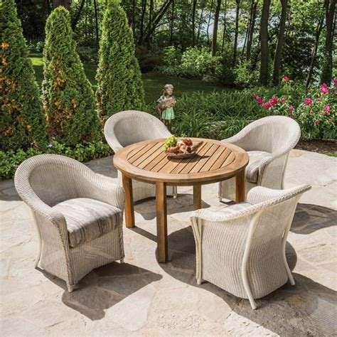 lloyd flanders patio furniture lloyd flanders reflections 5 wicker patio dining set