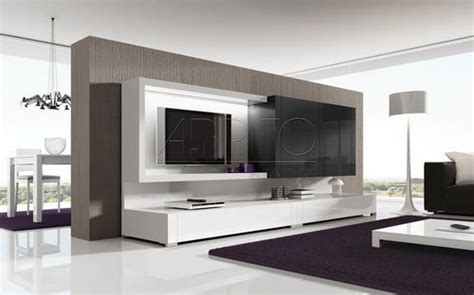 mueble comedor tv moderno lacado nagare   brito