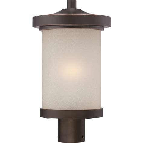 Diego Mahogany Bronze One Light Led Outdoor Post Mount