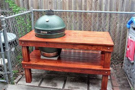 large big green egg table large green egg table plans diywoodtableplans