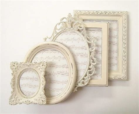 shabby chic frame set shabby chic frames picture frame set ornate frames ivory vintage wedding decor home decor