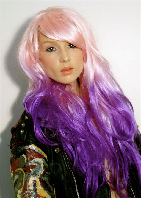 Baby Pink Into Purple Dip Dye By Hair For Heroes