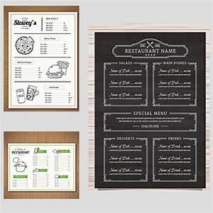 restaurant menu vector templates free download With cafe menu design template free download