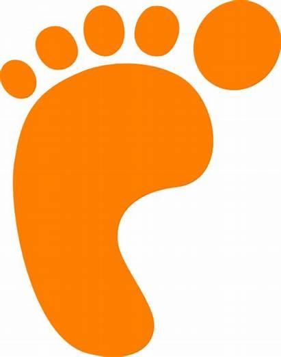 Footprint Orange Clip Foot Footprints Prints Printable