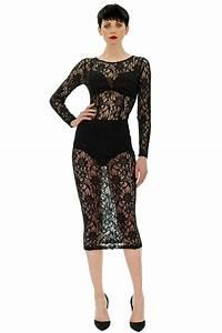 longue robe en dentelle stefanie renoma With robe longue noire fendue