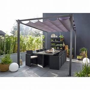 tonnelle autoportante niagara aluminium gris anthracite With comment monter une tonnelle de jardin 6 tonnelle de jardin aluminium et bois