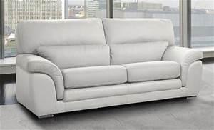 le petit canape cuir blanc pas cher du moment With canapé cuir 2 places poltronesofa