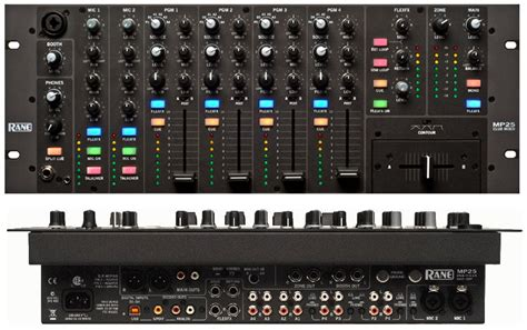 rack mount audio mixer dj pro audio rane mp25 rack mount 4 channel mixer with