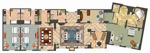 Room Diagram - 1-bedroom Portofino Parlor Suite