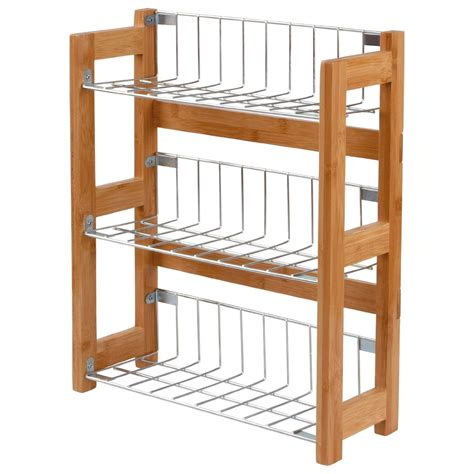 3 Tier Kitchen Spice Jars Rack Holder Shelves Storage Unit