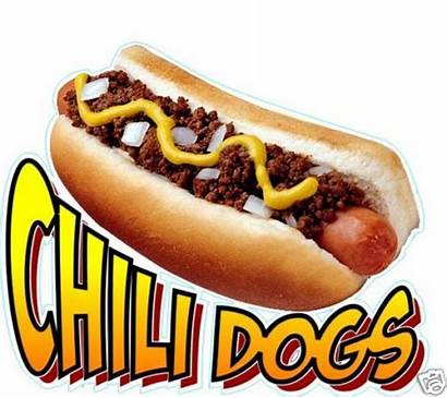 Chili Dog Dogs Concession Vendor Decal Sign