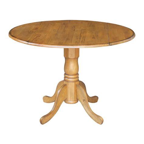 pedestal table with leaf international concepts 42 in dual drop leaf