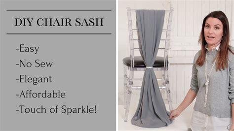 diy chair sash chair sash styles chair sash tutorial