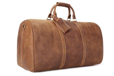 Handmade Large Vintage Full Grain Leather Travel Bag ...