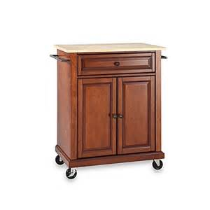 crosley furniture kitchen island crosley wood top portable rolling kitchen cart island www bedbathandbeyond