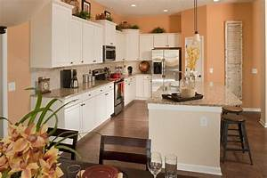 peach walls peaches and white cabinets on pinterest With kitchen colors with white cabinets with twin nursery wall art