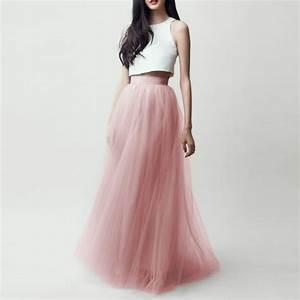 Modest Long Tulle Skirts For Pretty Lady Floor Length Tutu Skirt 2016 Zipper Style High End ...