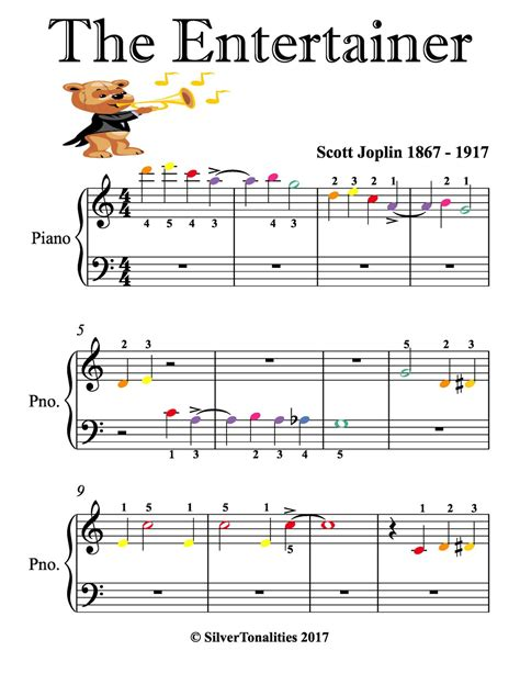 This product is also featured in our scott joplin ragtime. The Entertainer Beginner Piano Sheet Music with Colored Notes eBook by Scott Joplin ...