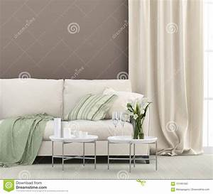 White, Sofa, And, Green, Details, Stock, Image