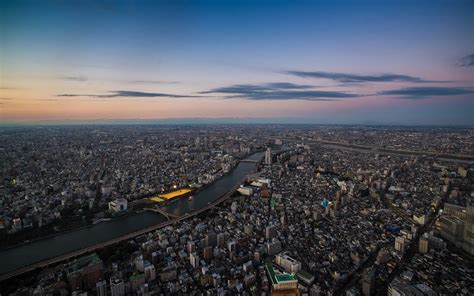 wallpaper japan sunset city cityscape skyline