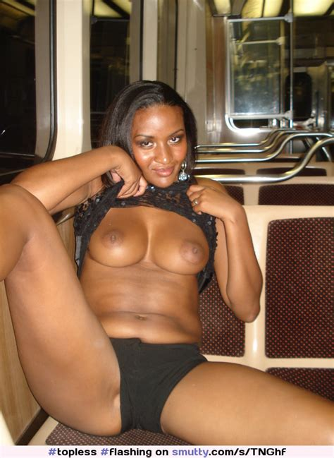 Amateur Black Teen Flashing Tits On Metro Daily Fap The Amateur Porn Blog Topless Flashing