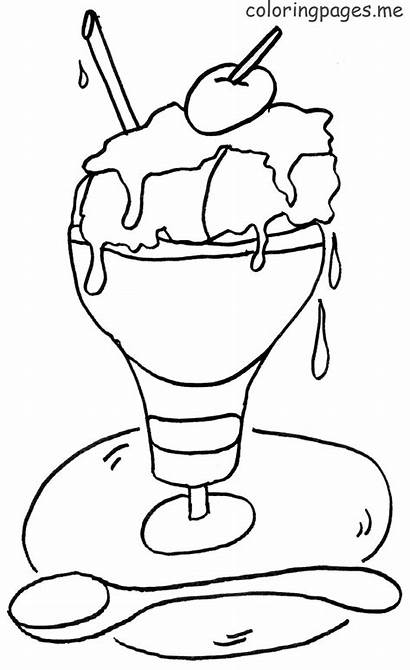 Ice Cream Coloring Pages Parlor Coloringtop