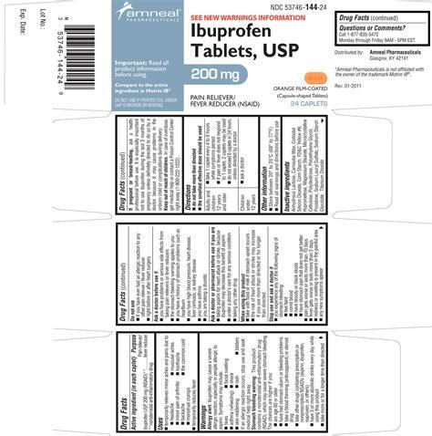 Dailymed Ibuprofen Nsaid Pain Releiver Fever Reducer