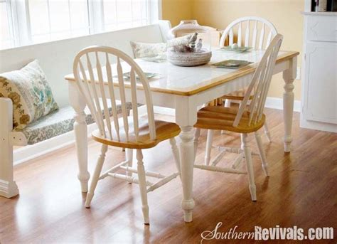 white tile kitchen table tile top table makeover tile top tables and 1476