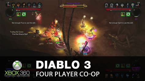 xbox one co op diablo 3 xbox 360 multiplayer four player co op chaos