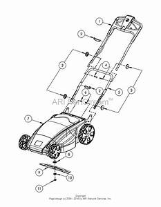 Dr Power Em6 4  Battery Powered Lawn Mower Parts Diagram For Em6 4 Mower