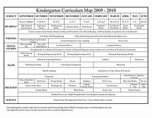 kindergarten curriculum map google search school With kindergarten curriculum map template