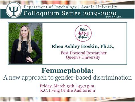 femmephobia   approach  gender based discrimination