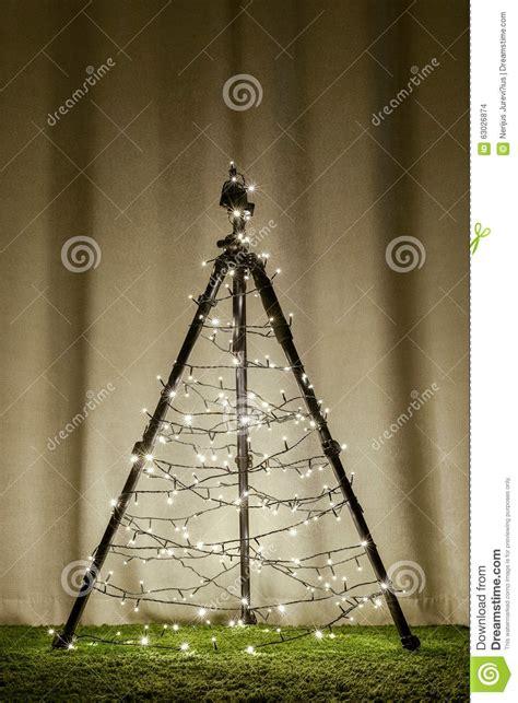 camera tripod christmas tree stock photo image 63026874