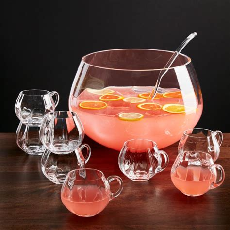 britta optic  piece punch bowl set reviews crate
