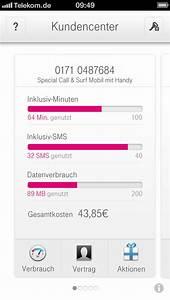 Telekom Rechnung Einsehen : kundencenter app der telekom zeigt datenverbrauch an mac i ~ Themetempest.com Abrechnung