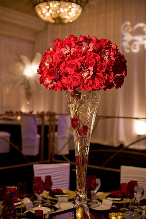 roses centerpieces ideas red rose centerpieces red rose wedding topiary centerpiece for vintage glam weddings full