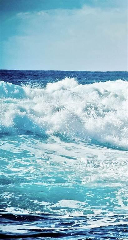 Ocean Iphone Waves Wallpapers Beach Wave Sea