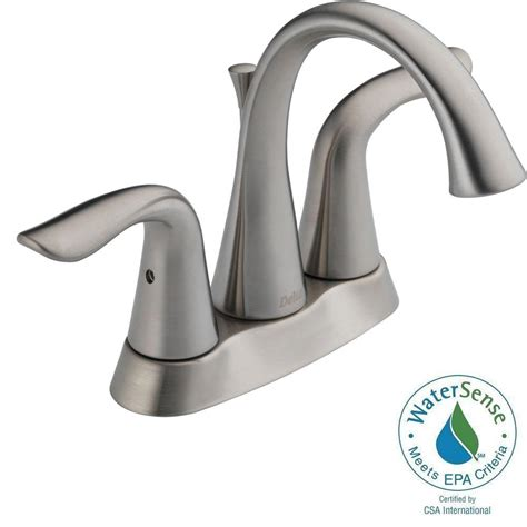Delta Lahara Faucet Home Depot delta tolva 4 in centerset 2 handle bathroom faucet with