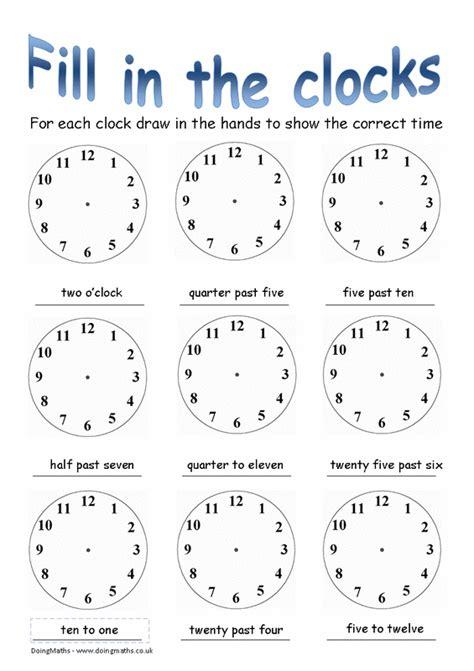 time  maths worksheets doingmaths  maths