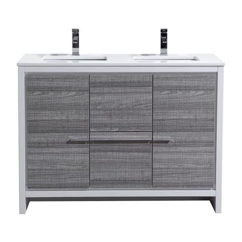 48 inch double sink vanity 48 inch ash gray modern double sink bathroom vanity with