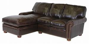 Classic leather easton sectional sofa cl34423 for Easton leather sectional sofa